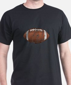 Football - Distressed Black T-Shirt