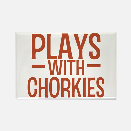 PLAYS Chorkies Rectangle Magnet