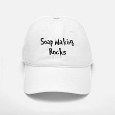 Soap Making Rocks Baseball Baseball Cap