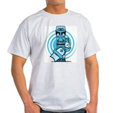 Blue Tiki back T-Shirt