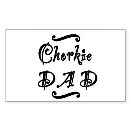 Chorkie DAD Sticker (Rectangle)