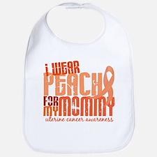 I Wear Peach 6.4 Uterine Cancer Bib