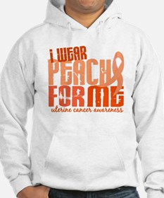 I Wear Peach 6.4 Uterine Cancer Hoodie