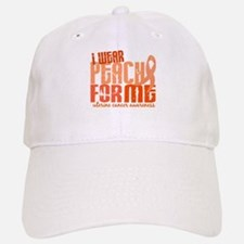 I Wear Peach 6.4 Uterine Cancer Baseball Baseball Cap