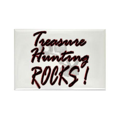 Treasure Hunting Rocks ! Rectangle Magnet