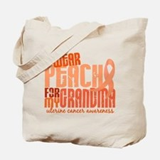 I Wear Peach 6.4 Uterine Cancer Tote Bag