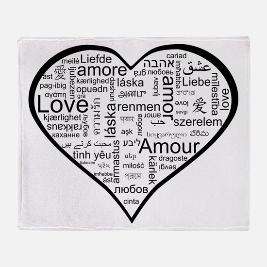 Love in many languages Throw Blanket