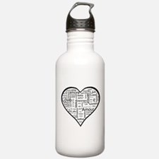 Love in many languages Water Bottle