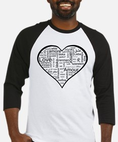 Love in many languages Baseball Jersey