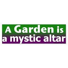 Mystic Garden Altar Bumper Bumper Sticker