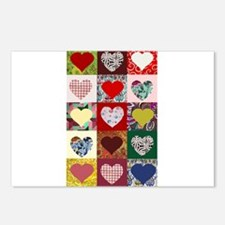 Heart Quilt Pattern Postcards (Package of 8)
