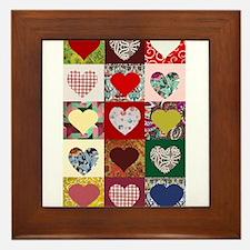 Heart Quilt Pattern Framed Tile