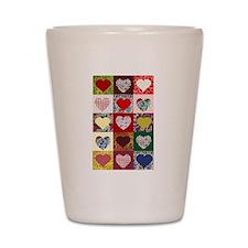 Heart Quilt Pattern Shot Glass