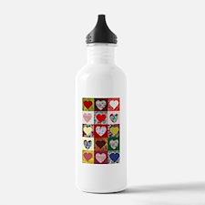Heart Quilt Pattern Water Bottle