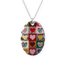 Heart Quilt Pattern Necklace