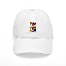 Heart Quilt Pattern Baseball Cap