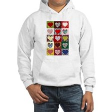 Heart Quilt Pattern Hoodie