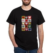 Heart Quilt Pattern T-Shirt