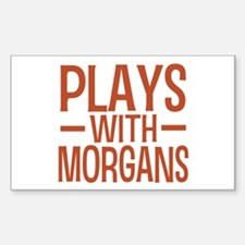 PLAYS Morgans Sticker (Rectangle)