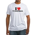 I Love Volleyball Fitted T-Shirt