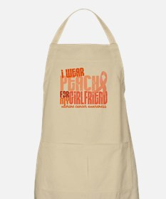 I Wear Peach 6.4 Uterine Cancer Apron