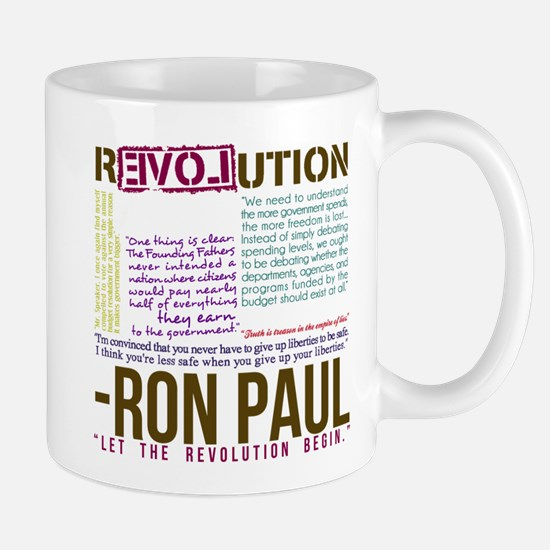 RON PAUL quotes organic Mug