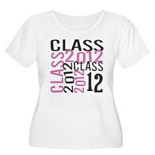 Class of 2012 PINK Mix Women's Plus Size Scoop Tee