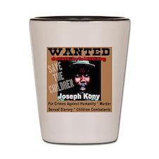 Wanted Joseph Kony Shot Glass