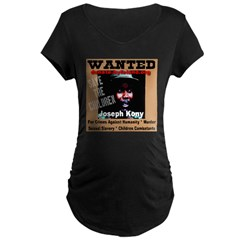 Wanted Joseph Kony Maternity Dark T-Shirt