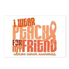 I Wear Peach 6.4 Uterine Cancer Postcards (Package