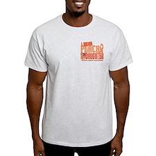 I Wear Peach 6.4 Uterine Cancer T-Shirt
