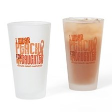 I Wear Peach 6.4 Uterine Cancer Drinking Glass