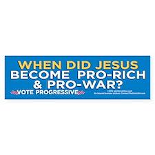 Jesus Pro-War? (Bumper Sticker)