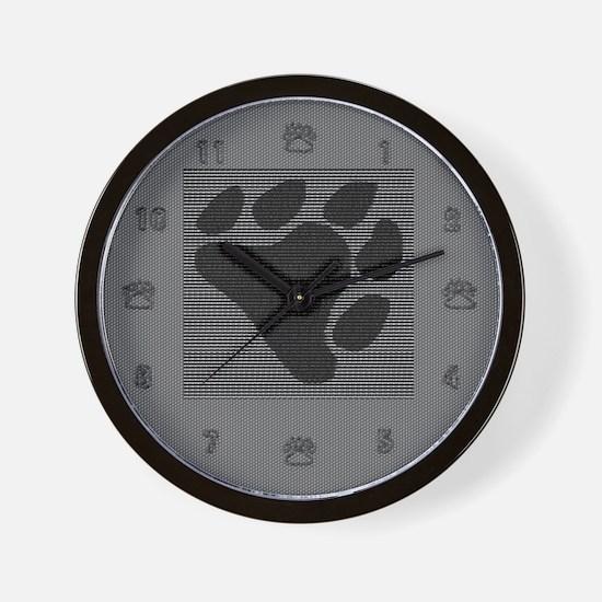 BLACK BEAR PAW Wall Clock