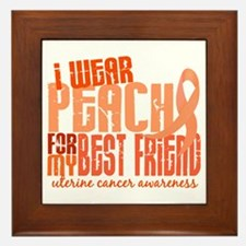 I Wear Peach 6.4 Uterine Cancer Framed Tile