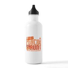 I Wear Peach 6.4 Uterine Cancer Sports Water Bottle