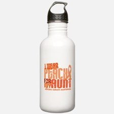 I Wear Peach 6.4 Uterine Cancer Water Bottle