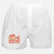 I Wear Peach 6.4 Uterine Cancer Boxer Shorts