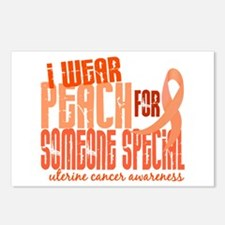 I Wear Peach 6.4 Uterine Cancer Postcards (Package