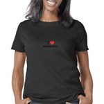 I Heart Capitol City Women's V-Neck Dark T-Shirt
