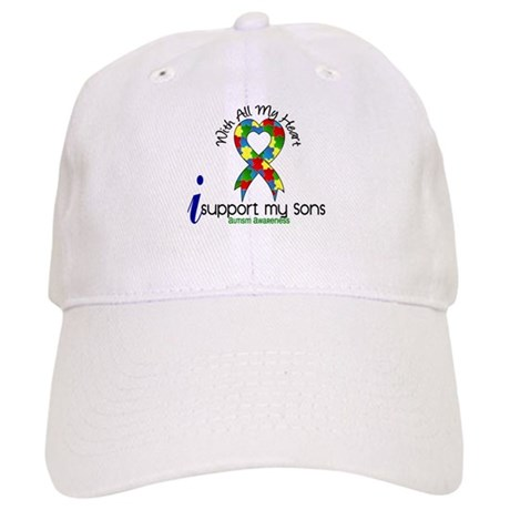 With All My Heart Autism Cap