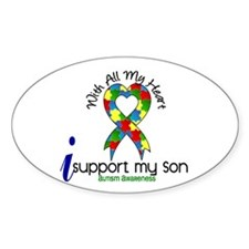 With All My Heart Autism Decal