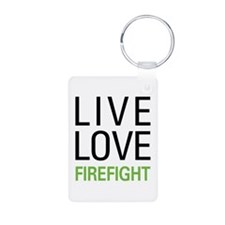 Live Love Firefight Keychains