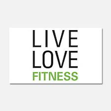 Live Love Fitness Car Magnet 20 x 12