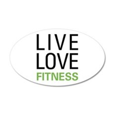 Live Love Fitness Wall Sticker