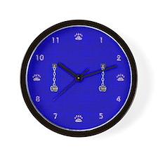 IRON CFFS BLUE Wall Clock