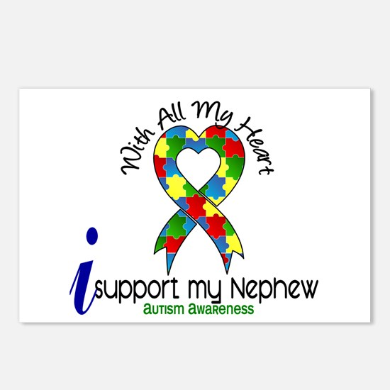 With All My Heart Autism Postcards (Package of 8)