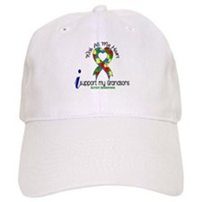 With All My Heart Autism Baseball Cap