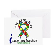 With All My Heart Autism Greeting Card