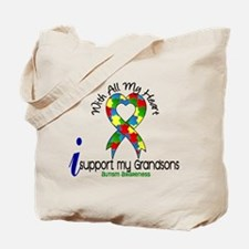 With All My Heart Autism Tote Bag